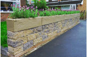 Wall display in sandstone